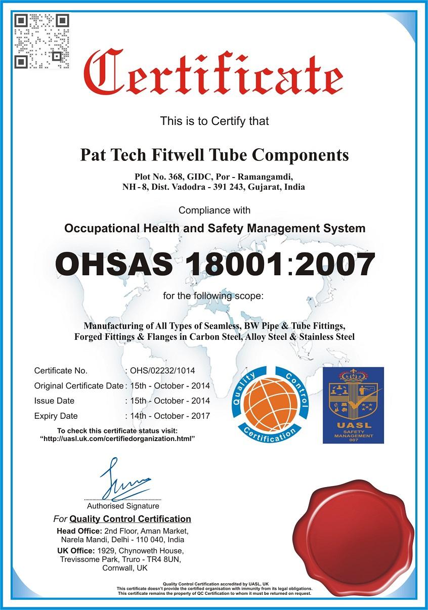 PFTC-ISO-18001-2007